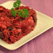 Rode bieten risotto met walnoten
